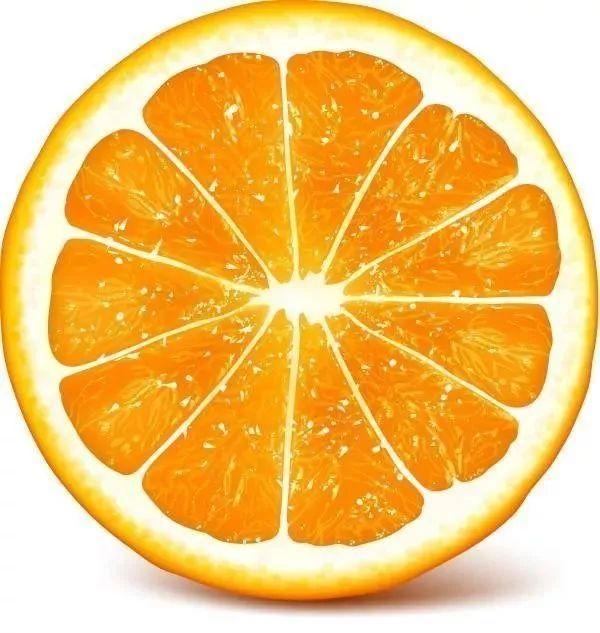 Долька апельсина рисунок
