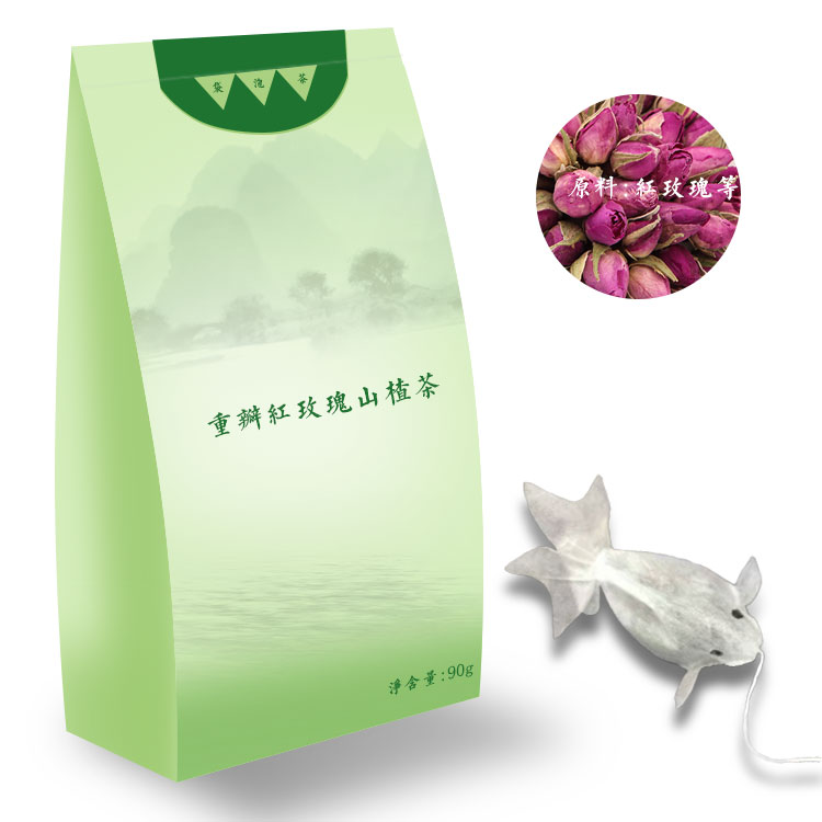 上海德雅重瓣红玫瑰山楂茶oem代加工资质齐全加工厂家